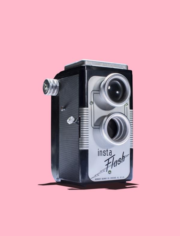 Vintage twin lens camera
