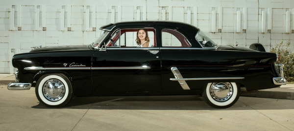 This was the lead image of the 1952 ford shot from the side for the story.
